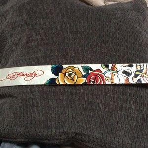 """NWOT Ed Hardy M Genuine leather belt 31"""" - 37"""""""